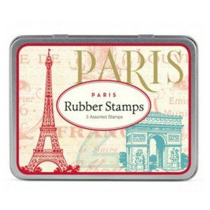 Cavallini Paris Rubber stamp set